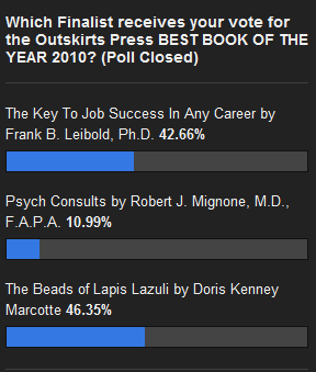 Outskirts Press 2010 Best Book of the Year Poll Results