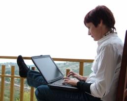 Author Writing Book for NaNoWriMo